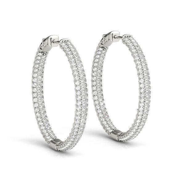 Diamond Pave Inside Out Diamond Hoop Earrings