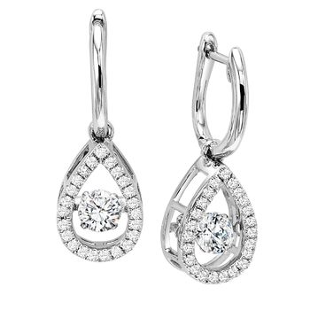 Rhythm of Love Diamond Pear Shape Earrings - Tear Drop Rhythm of Love Earrings