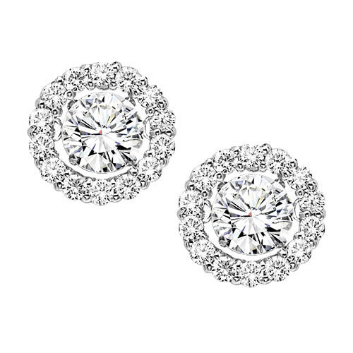 Rhythm of Love Diamond Halo Earrings - 30 Day Returns