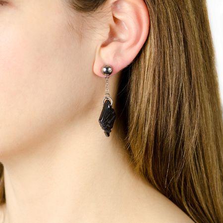 SAFARI Square Droo Titanium Earrings by Edward Mirell