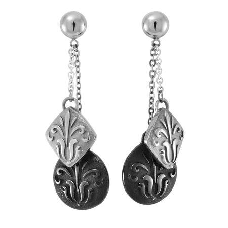 LACE Titanium Double Drop Earrings