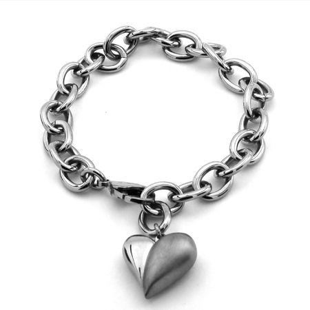 Ladies Titanium Heart Bracelet