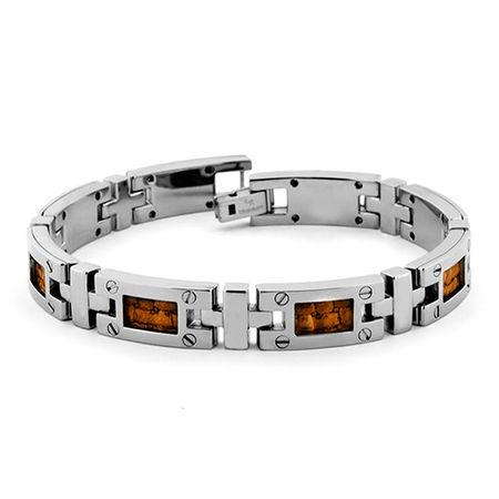 Edward Mirell Brown Leather & Titanium Bracelet