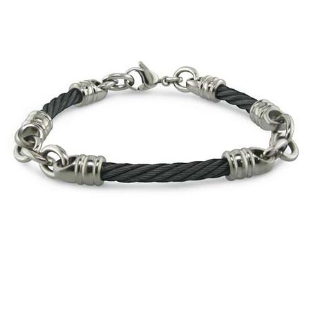 4mm Black Titanium Cable Rosenberg Bracelet