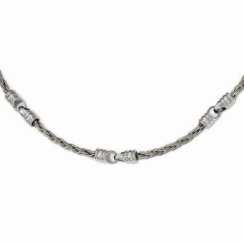 Edward Mirell Titanium Cable Necklace