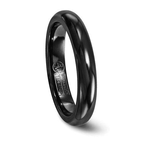 EDWARD MIRELL Black Titanium Comfort Fit Band - 4mm