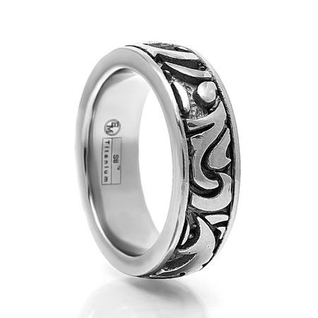 EDWARD MIRELL Gray Titanium Ring Pallas