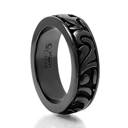 EDWARD MIRELL Black Titanium Ring Pallas