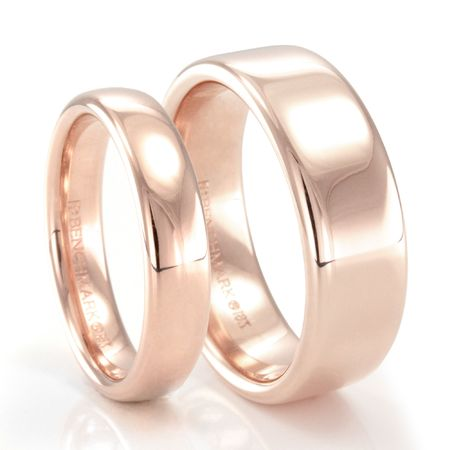 BENCHMARK His and Her 14K Rose Gold Wedding Bands