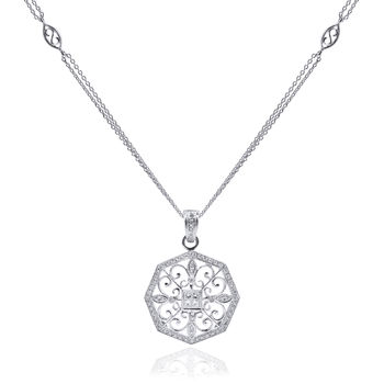 Beverley K Diamond Snowflake Necklace