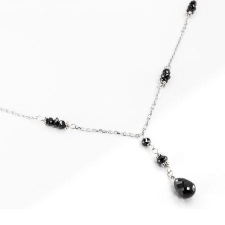 Black Diamond Lavalier Necklace by belloria