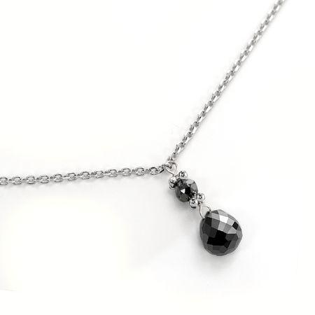 Black Diamond Drop Necklace by belloria