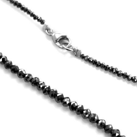 Faceted Black Diamond Bead Necklace by belloria - medium