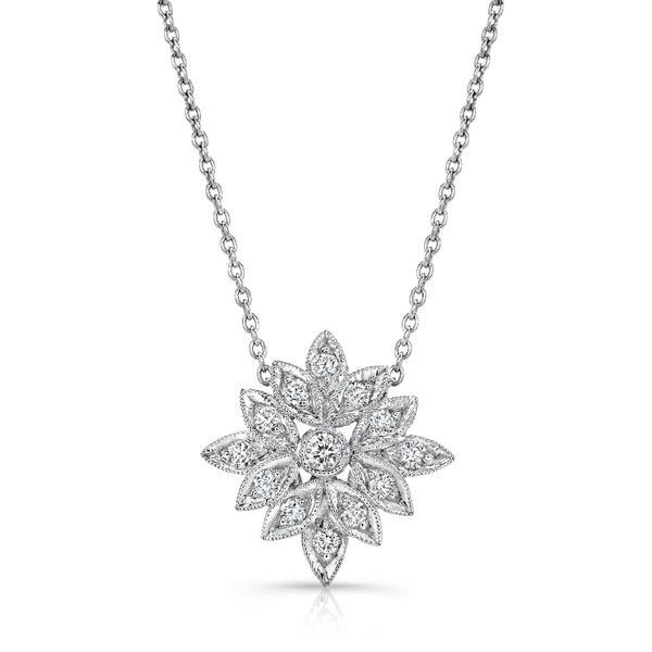 Beverley K Diamond Snowflake Necklace - On Sale