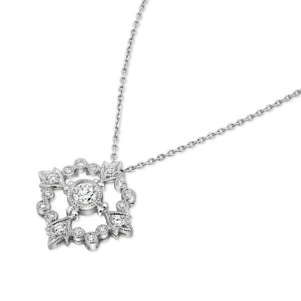 Beverley K Vintage Inspired Diamond Circle Necklace - On Sale