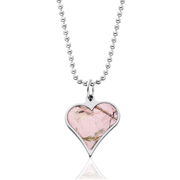 Pink Realtree Camo Heart Necklace