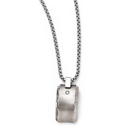 TEMPLAR Gray Titanium Diamond Necklace by Edward Mirell