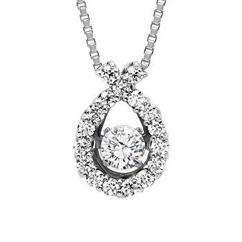Rhythm of Love Diamond Necklace - Diamond Ribbon Necklace