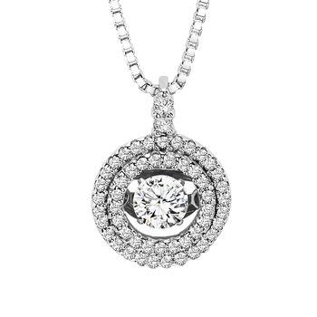 Rhythm of Love Halo Necklace - Diamond Circle Necklace