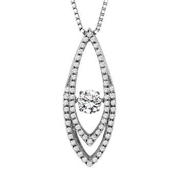 Rhythm of Love Diamond Necklace - Marquise Shape Rhythm of Love Pendant