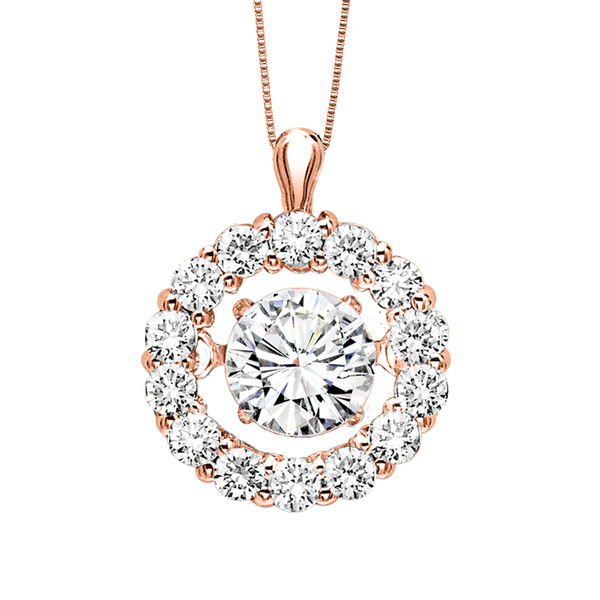 Rose Gold Rhythm of Love Diamond Necklace - Diamonds in Rhythm Rose Gold