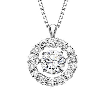 Rhythm of Love Diamond Necklace - Round Halo Rhythm of Love