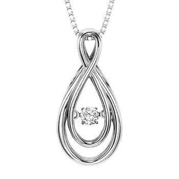 Rhythm of love diamond pendant infinity diamond pendant aloadofball Image collections