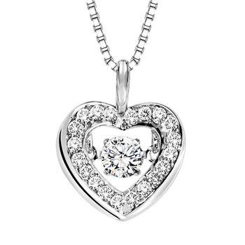 Rhythm of Love - Diamond Necklace - Heart Necklace