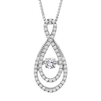 Rhythm of Love Double Twist Necklace - Diamond Rhythm of Love Pendant