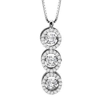 Rhythm of Love - Diamond Necklace - Triple Circle Necklace