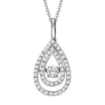 Rhythm of Love - Diamond Necklace - Teardrop Necklace