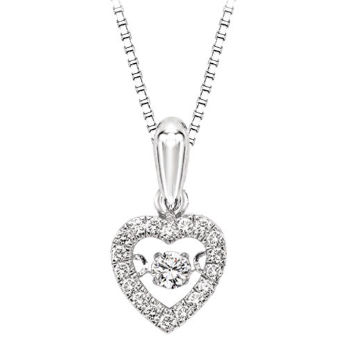 Rhythm of Love Diamond Heart Necklace - Diamonds in Rhythm Heart Pendant