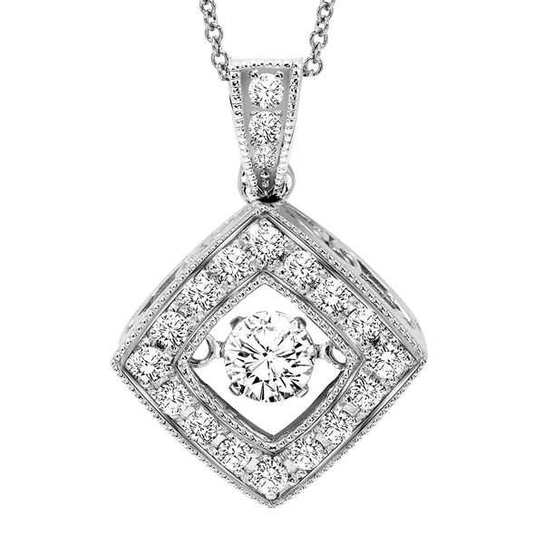 Vintage Rhythm of Love Diamond Necklace - Diamonds in Rhythm Pendant