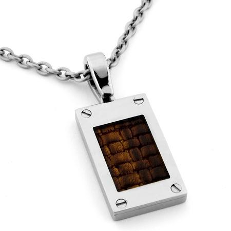 Edward Mirell Leather & Titanium Necklace