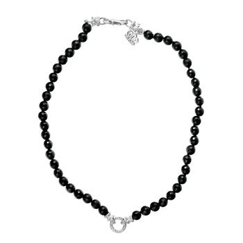 Alwand Vahan Black Onyx Necklace - Sterling Silver and Onyx Necklace