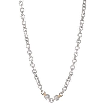 14K Gold & Sterling Silver Chain Necklace - Alwand Vahan - Belloria
