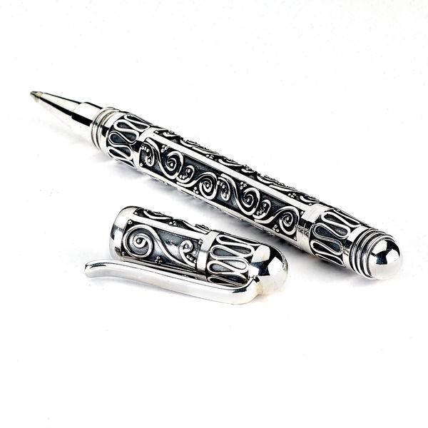 Samuel B. Sterling Silver Pen - Handmade Silver Pen from Bali
