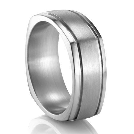 COGE Square Palladium Ring