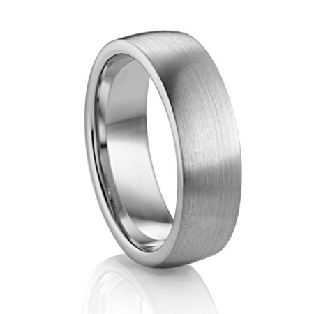 7mm Flat Palladium Wedding Band by Diana Classic