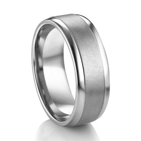 Platinum and Palladium Wedding Band by Diana Classic®