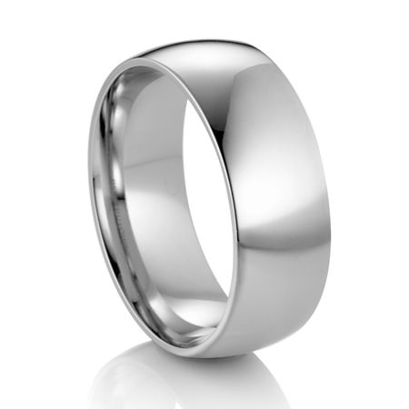ARTCARVED  Classic Comfort Fit Palladium Wedding Band - OPTIMA