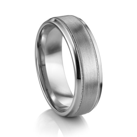 ARTCARVED  ® Palladium Wedding Band - TURIN