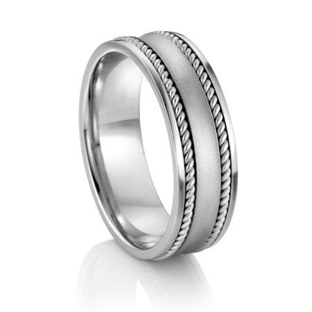 ARTCARVED ®  Palladium Wedding Band - LUXOR