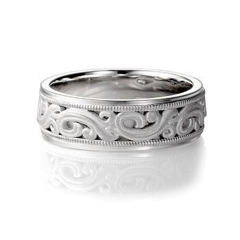 ArtCarved Palladium Wedding Band - ARDENT Palladium Ring