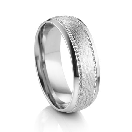 ARTCARVED  ® Palladium Wedding Band - SUSSEX