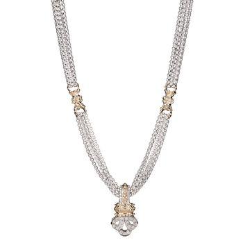 Sterling Silver, 14K Gold, Diamond Pendant - Alwand Vahan - Belloria