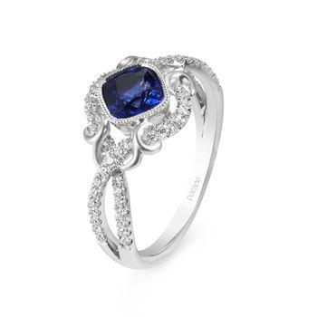 Royal Blue Sapphire & Diamond Ring by Parade