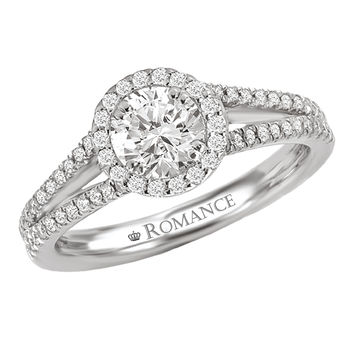 Halo Style - Split Shank - Romance Collection Engagement ring