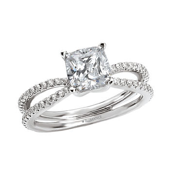 Split Shank - Ladies Engagement Ring - Cushion Cut