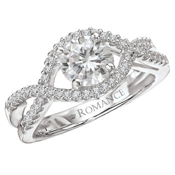 Split Shank - Ladies Engagement Ring - Romance Collection